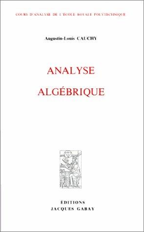 ANALYSE ALGEBRIQUE: CAUCHY
