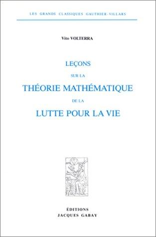 9782876470668: Leçon sur la théorie mathématique de la lutte pour la vie