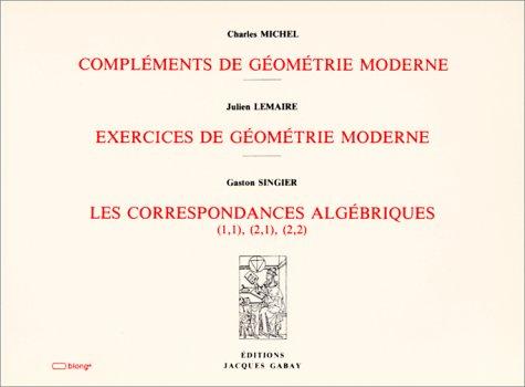 9782876471634: complements de geometrie moderne