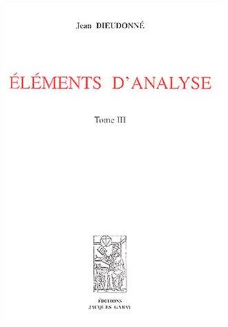 9782876472136: éléments d'analyse t. 3
