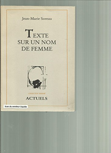 9782876610040: Texte sur un nom de femme