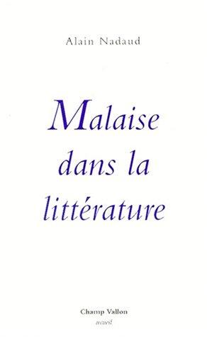 9782876731813: Malaise dans la littérature (Recueil) (French Edition)