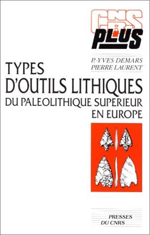 9782876820852: Types d'outils lithiques du paleolithique sup. en europe