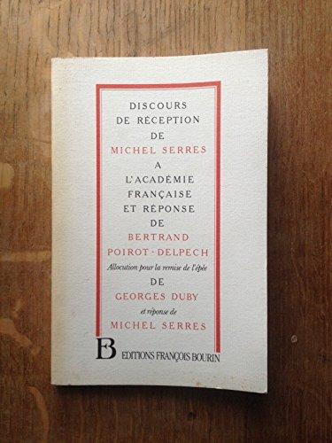 9782876860803: Discours de réception à l'académie française