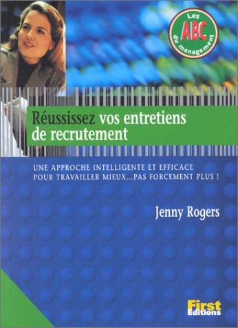 9782876914865: Réussissez vos entretiens de recrutement