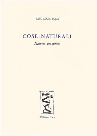 9782877040334: Cose Naturali. Natures inanimées