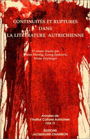 Continuité et ruptures dans la littérature autrichienne: Collectif