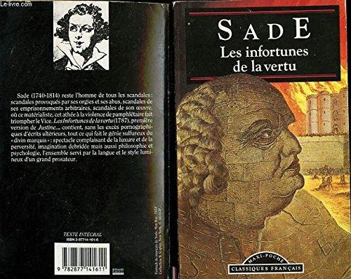 Infortunes De La Vertu (Classiques Francais): Sade, Marquis de