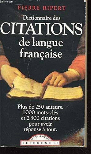 9782877142014: Dictionnaire DES Citations