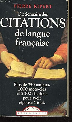 Dictionnaire des citations de langue anglaise
