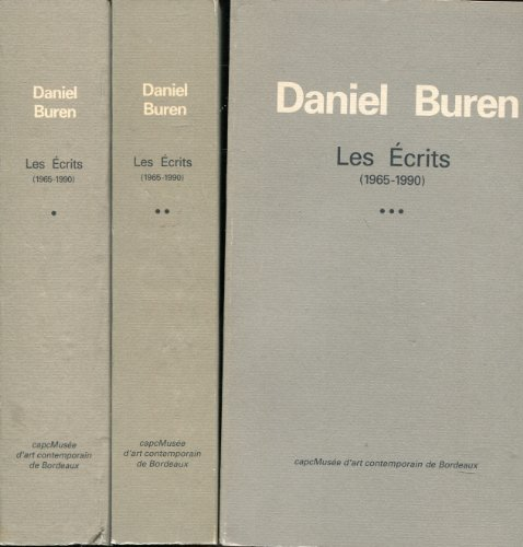 Les écrits: 1965-1990 (French Edition) (2877210812) by Daniel Buren