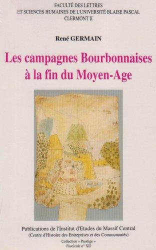 9782877410779: les campagnes bourbonnaises a la fin du moyen-age