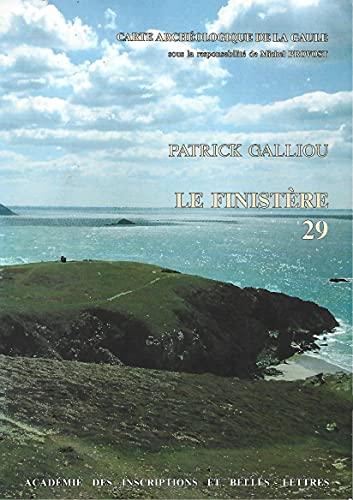 9782877540063: Carte archéologique de la Gaule Le Finistère 29