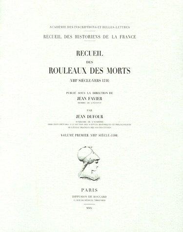 Recueil des rouleaux des morts (VIIIe siècle-vers