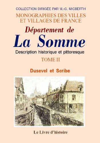 9782877606509: Département de la Somme, volume 2