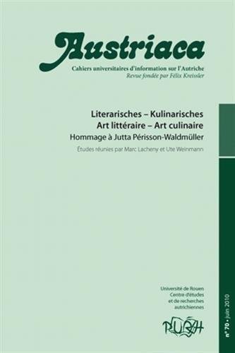 9782877755146: austriaca, n 70. literarisches - kulinarisches/art litteraire - art culinaire