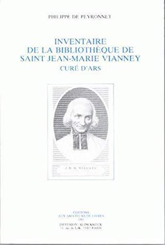 9782878410389: Inventaire bibliotheque de st jean-marie vianey cure d