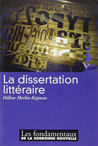 9782878544800: La dissertation littéraire