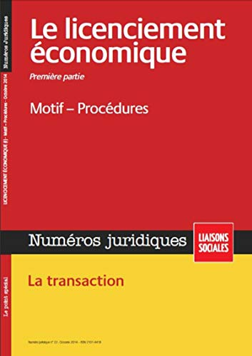 Licenciement Economique - Premiere Partie - Octbore 2014