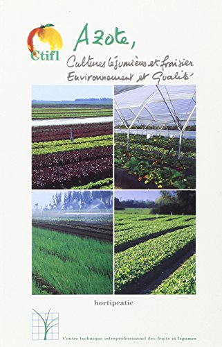 9782879111087: azote cultures legumieres et fraisier environnement et qualite
