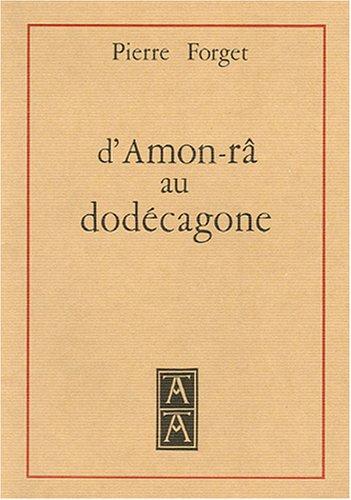 9782879130187: D'Amon-râ au dodécagone