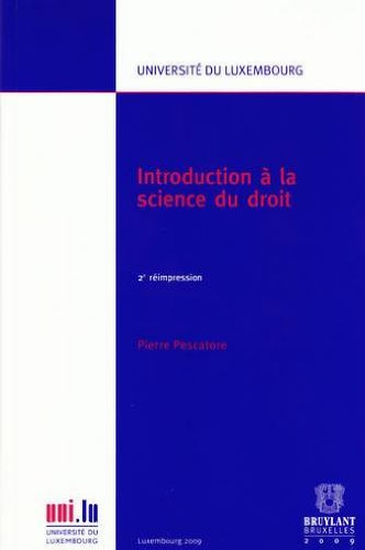Introduction à la science du droit (French Edition) (9782879780832) by [???]
