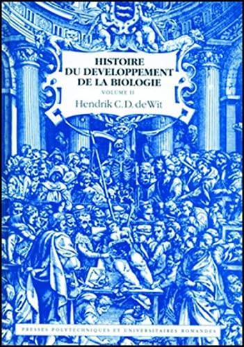 9782880742522: Histoire du developpement de la biologie