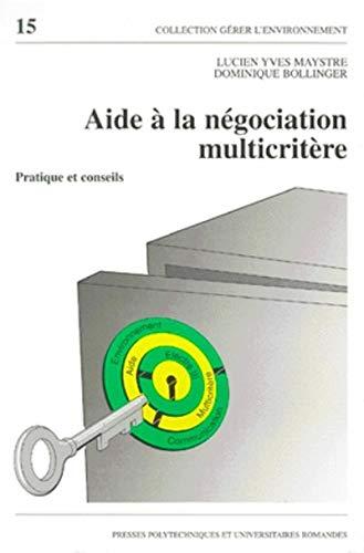 aide a la negociation multicritere: Y. Maystre