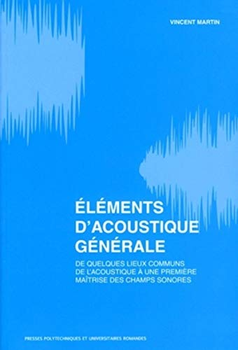 9782880746544: Elements d'acoustique generale (French Edition)