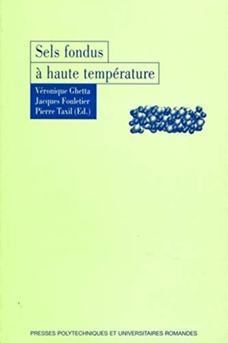 9782880748326: sels fondus à haute température