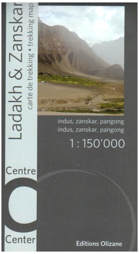 9782880863685: Ladakh Zanskar: Trekking Map- Center (English and French Edition)