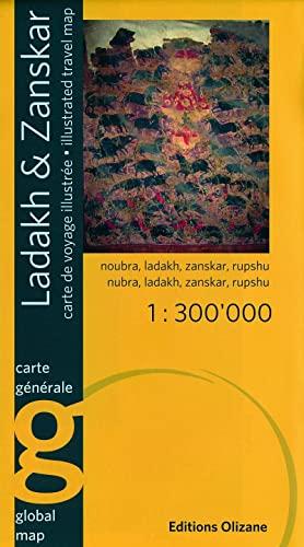9782880863883: Ladakh Zanskar Illustrated Travel Map (English and French Edition)