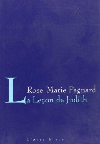 9782881087424: Leçon de Judith -la-