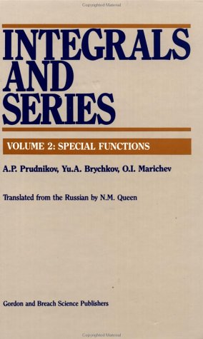 9782881240973: Integrals and Series: Volume 1: Elementary Functions; Volume 2: Special Functions