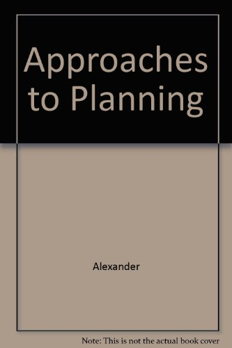 9782881241406: Approaches to Planning