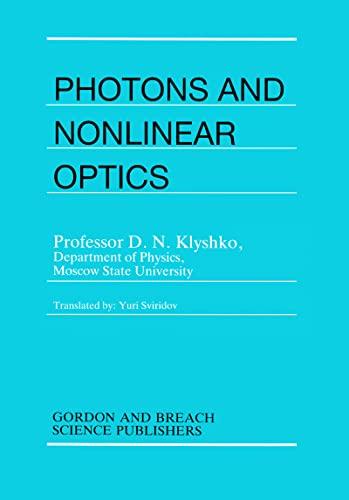 Photons Nonlinear Optics [Hardcover] [Jan 01, 1988] Klyshko, D.N.