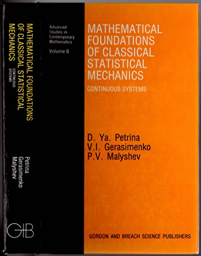 9782881246814: Mathematical Foundations of Classical Statistical Mechanics: Continuous Systems (Advanced Studies in Contemporary Mathematics)