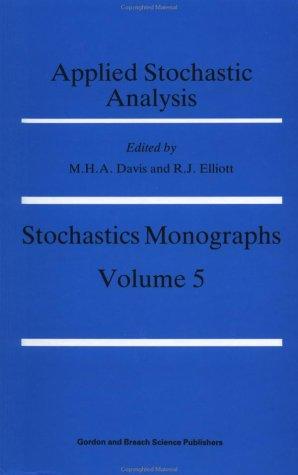 9782881247163: Applied Stochastic Analysis (Stochastics Monographs)