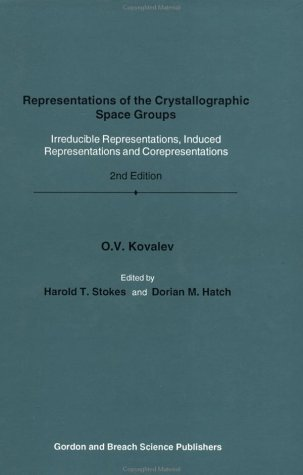 9782881249341: Representation of Crystallographic Space Groups