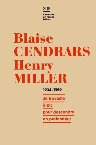 Correspondance, 1934-1959: Cendrars, Blaise