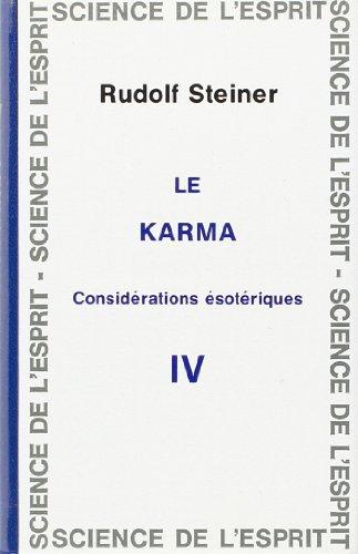 9782881890901: Karma : consid�rations �sot�riques 4