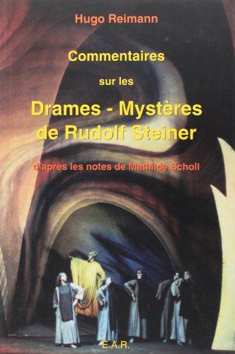 Commentaires ésotériques sur les drames-mystères de Rudolf: Hugo Reimann; M.