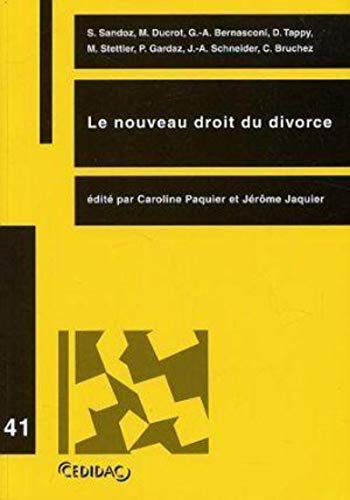 Le nouveau droit du divorce (French Edition): Cedidac