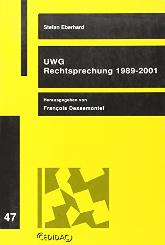 9782881970467: Uwg Rechtsprechung 1989 2001 (French Edition)