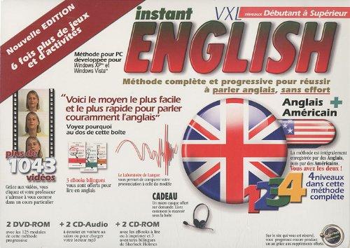 9782882591609: Instant English VXL niveaux débutant à supérieur : 2 DVD-ROM (2Cédérom + 2 CD audio)