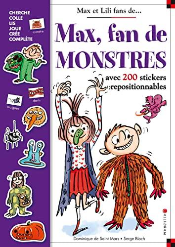 9782884806848: Max fan de monstres : Avec 200 stickers repositionnables