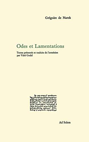 9782884820240: Odes et lamentations