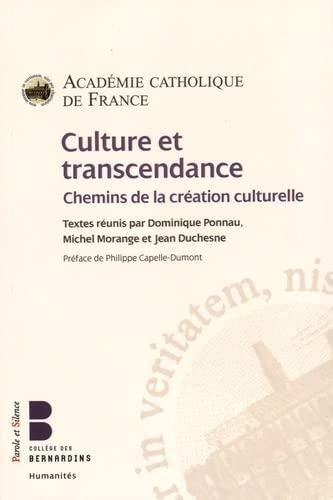 9782889185849: Culture et transcendance : Chemins de la création culturelle