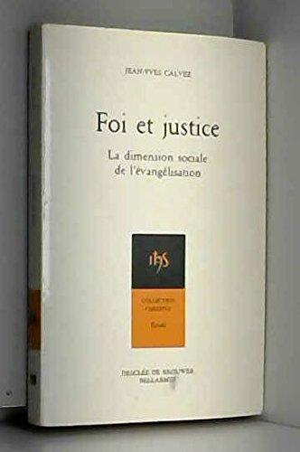 9782890075016: Foi et justice