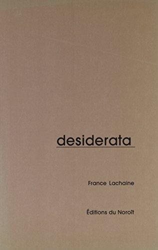 Desiderata: France Lachaine